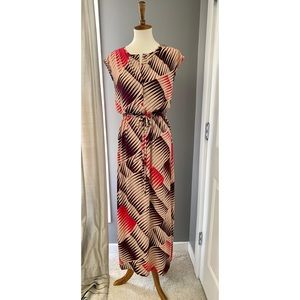 Anne Klein tropical print maxi dress